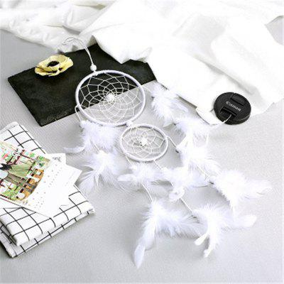New Style Two Ring of Dream Net Feather Home Decoration Pendant
