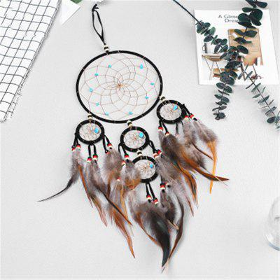 Creative Five-Ring Dreamcatcher'S Feather Decoration Wall Decoration
