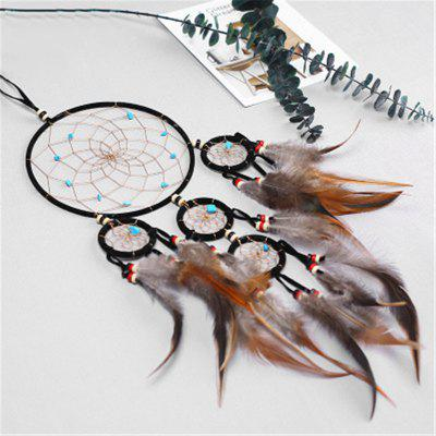 Creative Five-Ring DreamcatcherS Feather Decoration Wall DecorationCrafts<br>Creative Five-Ring DreamcatcherS Feather Decoration Wall Decoration<br><br>Package Contents: 1 x Hanging Decorations<br>Package size (L x W x H): 15.00 x 10.00 x 8.00 cm / 5.91 x 3.94 x 3.15 inches<br>Package weight: 0.1500 kg<br>Product size (L x W x H): 56.00 x 16.00 x 0.50 cm / 22.05 x 6.3 x 0.2 inches<br>Product weight: 0.1000 kg<br>Subjects: Fashion<br>Usage: Party, Wedding