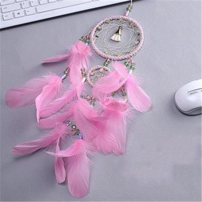 Creative Dream Catcher Two Ring Pink Feather Household Decorative PendantCrafts<br>Creative Dream Catcher Two Ring Pink Feather Household Decorative Pendant<br><br>Package Contents: 1 x Hanging Decorations<br>Package size (L x W x H): 15.00 x 10.00 x 8.00 cm / 5.91 x 3.94 x 3.15 inches<br>Package weight: 0.1000 kg<br>Product size (L x W x H): 55.00 x 11.00 x 0.60 cm / 21.65 x 4.33 x 0.24 inches<br>Product weight: 0.0800 kg<br>Subjects: Fashion<br>Usage: Party, Wedding