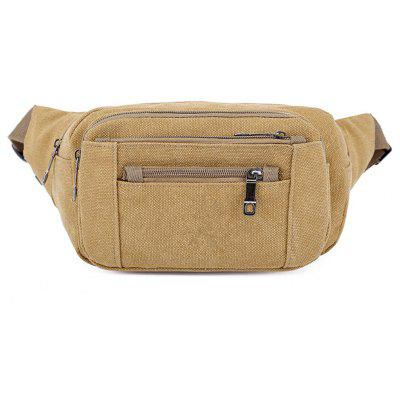 Fashion Wild Simple Canvas Outdoor Large Shoulder Men'S Chest Bag