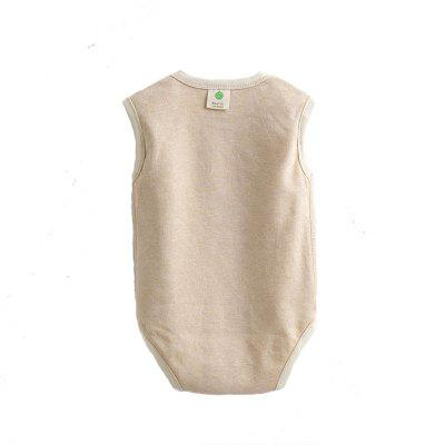 New Cotton Baby Sleeveless Bag Hip Clothing Romper Children's Jumpsuit
