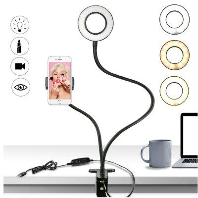 Selfie Ring Light with Cell Phone Holder for Live Stream Dimmable ModeStands &amp; Holders<br>Selfie Ring Light with Cell Phone Holder for Live Stream Dimmable Mode<br><br>Accessories type: Selfie Stick<br>Brand: 224,225,1224,1932,1942,2283,2290,2702,2961,3064,3112,3113,5113,9400,11013,14668,14744,14838,15483,15640,27043,27963,27964,28403,28502,29006,29055,29975,30135,30222,31092,31924,32345<br>Mainly Compatible with: HTC One M9, Samsung S6, iPhone 6, iPhone 6 Plus, iPhone 6S, Galaxy Note 3, Note 2 N7100, Samsung Galaxy S6 Edge Plus, Samsung Note 5, SAMSUNG, S4 I9500, HTC, Nokia, Blackberry, Galaxy Note 4, Galaxy A7<br>Package Contents: 1 x Cell phone holder with selfie ring light<br>Package size (L x W x H): 25.00 x 20.00 x 10.00 cm / 9.84 x 7.87 x 3.94 inches<br>Package weight: 0.1000 kg<br>Product size (L x W x H): 190.00 x 5.80 x 1.70 cm / 74.8 x 2.28 x 0.67 inches<br>Product weight: 0.1000 kg
