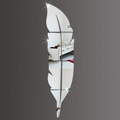Solid Color Feather Shape Mirror Background Wall StickerWall Stickers<br>Solid Color Feather Shape Mirror Background Wall Sticker<br><br>Function: Decorative Wall Sticker<br>Material: Plastic<br>Package Contents: 1x wall sticker<br>Package size (L x W x H): 19.00 x 74.00 x 1.00 cm / 7.48 x 29.13 x 0.39 inches<br>Package weight: 0.1200 kg<br>Product size (L x W x H): 18.00 x 73.00 x 0.50 cm / 7.09 x 28.74 x 0.2 inches<br>Product weight: 0.1000 kg<br>Quantity: 1<br>Subjects: Fashion<br>Suitable Space: Bedroom<br>Type: Mirror Wall Sticker