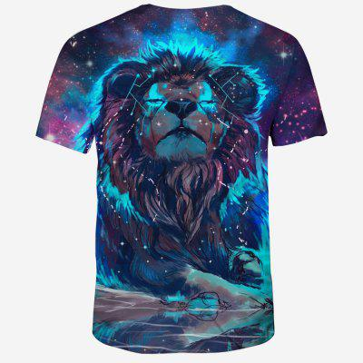 New 3D Printed Mens Casual Short-Sleeved T-ShirtMens Short Sleeve Tees<br>New 3D Printed Mens Casual Short-Sleeved T-Shirt<br><br>Collar: Round Neck<br>Material: Polyester, Spandex<br>Package Contents: 1 x T-shirt<br>Pattern Type: Animal<br>Sleeve Length: Short Sleeves<br>Style: Casual<br>Weight: 0.1600kg