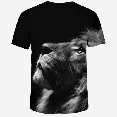 2018 New 3D Lion Head Print Mens Round Neck T-ShirtMens Short Sleeve Tees<br>2018 New 3D Lion Head Print Mens Round Neck T-Shirt<br><br>Collar: Round Neck<br>Material: Polyester, Spandex<br>Package Contents: 1 X T-shirt<br>Pattern Type: Animal<br>Sleeve Length: Short Sleeves<br>Style: Novelty<br>Weight: 0.1600kg