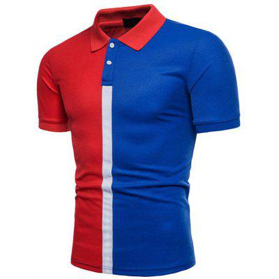 Men Casual Color Block Short Sleeve Polo ShirtMens Short Sleeve Tees<br>Men Casual Color Block Short Sleeve Polo Shirt<br><br>Collar: Polo Collar<br>Color Style: Contrast Color<br>Fabric Type: Jersey<br>Feature: Breathable<br>Material: Cotton Blends<br>Package Contents: 1 x Polo<br>Pattern Type: Patchwork<br>Sleeve Length: Short<br>Style: Casual<br>Type: Slim<br>Weight: 0.2300kg