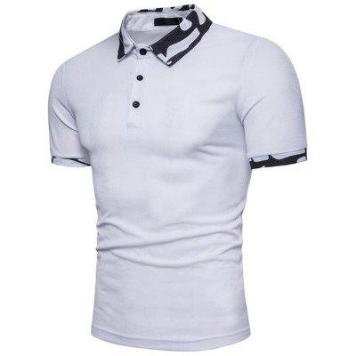 Men  Casual Cotton Short Sleeve Polo ShirtMens Short Sleeve Tees<br>Men  Casual Cotton Short Sleeve Polo Shirt<br><br>Collar: Polo Collar<br>Color Style: Solid<br>Fabric Type: Jersey<br>Material: Cotton Blends<br>Package Contents: 1 x Polo<br>Pattern Type: Print<br>Sleeve Length: Short<br>Style: Casual<br>Type: Slim<br>Weight: 0.2300kg