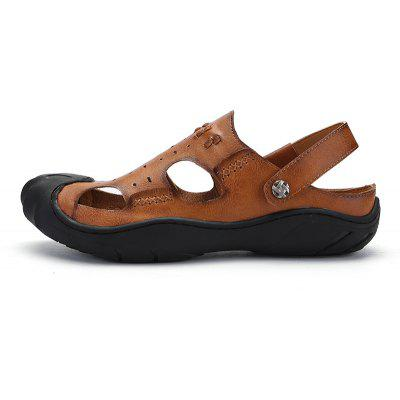 Men Casual Hiking Leather Sandals SlippersMens Slippers<br>Men Casual Hiking Leather Sandals Slippers<br><br>Available Size: 39-44<br>Closure Type: Slip-On<br>Embellishment: Hollow Out<br>Gender: For Men<br>Heel Hight: 1.5cm<br>Occasion: Casual<br>Outsole Material: Rubber<br>Package Contents: 1xShoes(pair)<br>Pattern Type: Solid<br>Sandals Style: Slides<br>Style: Fashion<br>Upper Material: Leather<br>Weight: 1.2000kg