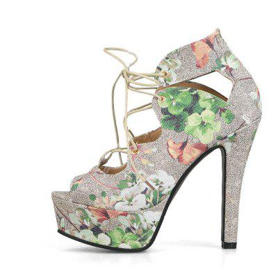 Summer High Heel Sandals LeisureWomens Sandals<br>Summer High Heel Sandals Leisure<br><br>Available Color: Pink, green<br>Available Size: 33.34.35.36.37.38.39.40.41.42.43<br>Closure Type: Lace-Up<br>Embellishment: Flowers<br>Gender: For Women<br>Heel Height: 12.5CM<br>Heel Height Range: Super High(Above4)<br>Heel Type: Platform<br>Insole Material: PU<br>Lining Material: Synthetic<br>Occasion: Casual<br>Outsole Material: Rubber<br>Package Content: 1xShoes(pair)<br>Pattern Type: Print<br>Platform Height: 4CM<br>Sandals Style: Ankle Strap<br>Shoe Width: Medium(B/M)<br>Style: Fashion<br>Technology: Adhesive<br>Upper Material: Microfiber<br>Weight: 0.9800kg
