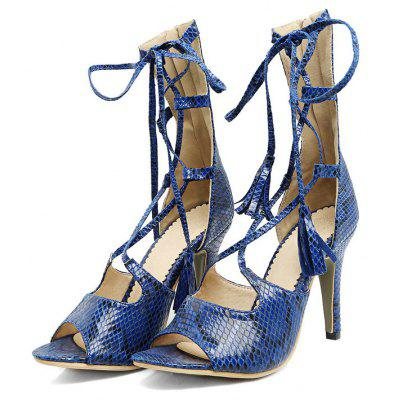 Snakeskin Pattern Casual SandalsWomens Sandals<br>Snakeskin Pattern Casual Sandals<br><br>Available Color: Blue Khaki Beige white<br>Available Size: 33.34.35.36.37.38.39.40.41.42.43<br>Closure Type: Lace-Up<br>Gender: For Women<br>Heel Height: 9cm<br>Heel Height Range: High(3-3.99)<br>Heel Type: Stiletto Heel<br>Insole Material: PU<br>Lining Material: Synthetic<br>Occasion: Casual<br>Outsole Material: Rubber<br>Package Content: 1xShoes(pair)<br>Pattern Type: Leopard<br>Sandals Style: Ankle Strap<br>Shoe Width: Medium(B/M)<br>Style: Novelty<br>Technology: Adhesive<br>Upper Material: Snakeskin<br>Weight: 0.9500kg