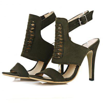 Sanding High Heel Sandals in SummerWomens Sandals<br>Sanding High Heel Sandals in Summer<br><br>Available Color: Black, yellow, army green, red<br>Available Size: 33.34.35.36.37.38.39.40.41.42.43.44.45.46<br>Closure Type: Buckle Strap<br>Gender: For Women<br>Heel Height: 10cm<br>Heel Height Range: High(3-3.99)<br>Heel Type: Stiletto Heel<br>Insole Material: PU<br>Lining Material: Synthetic<br>Occasion: Casual<br>Outsole Material: Rubber<br>Package Content: 1xShoes(pair)<br>Pattern Type: Solid<br>Sandals Style: T-Strap<br>Shoe Width: Medium(B/M)<br>Style: Fashion<br>Technology: Adhesive<br>Upper Material: Microfiber<br>Weight: 0.9100kg