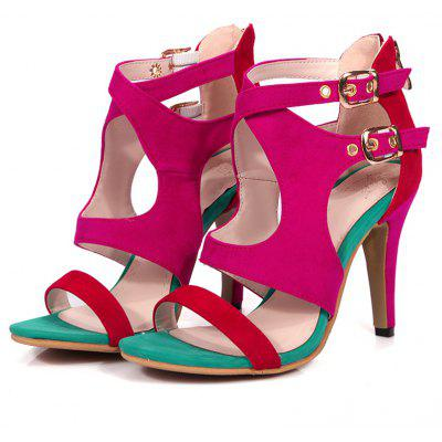Summer Toes and Leisure High Heel SandalsWomens Sandals<br>Summer Toes and Leisure High Heel Sandals<br><br>Available Color: Black, red, blue<br>Available Size: 33.34.35.36.37.38.39.40.41.42.43.44.45.46<br>Closure Type: Zip<br>Gender: For Women<br>Heel Height: 10cm<br>Heel Height Range: High(3-3.99)<br>Heel Type: Stiletto Heel<br>Insole Material: PU<br>Lining Material: Synthetic<br>Occasion: Casual<br>Outsole Material: Rubber<br>Package Content: 1xShoes(pair)<br>Pattern Type: Patchwork<br>Sandals Style: Ankle-Wrap<br>Shoe Width: Medium(B/M)<br>Style: Fashion<br>Technology: Adhesive<br>Upper Material: Microfiber<br>Weight: 0.8500kg