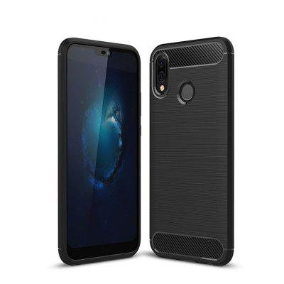 Case for Huawei P20 Lite Shockproof Back Cover Solid Color Soft Carbon Fiber