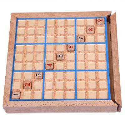 Wooden Digital Chess Nine Palace Children Puzzle Toy Adult Desktop abacus sorob baby puzzle wooden toy small abacus handcrafted educational toy children s wooden early learning kids math toy mz64