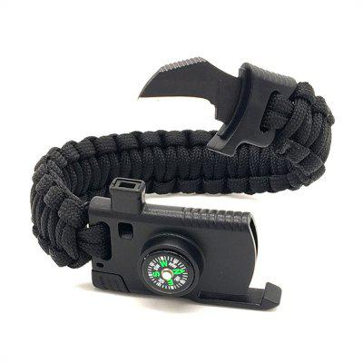 Camping Out for Survival Outdoor Adventure Umbrella Rope Bracelet
