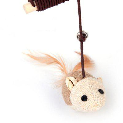 Mouse Shape Cat Teaser with A Bell StickCat Toys<br>Mouse Shape Cat Teaser with A Bell Stick<br><br>For: Cats<br>Material: Wood<br>Package Contents: 1 x Cat Teaser<br>Package size (L x W x H): 10.00 x 6.00 x 7.00 cm / 3.94 x 2.36 x 2.76 inches<br>Package weight: 0.0300 kg<br>Product size (L x W x H): 9.00 x 5.00 x 6.00 cm / 3.54 x 1.97 x 2.36 inches<br>Product weight: 0.0280 kg