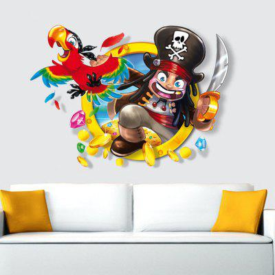 Buy Pirates 3D New Creative Decorative Three-Dimensional Wall Stickers, MULTI-A, Home & Garden, Home Decors, Wall Art, Wall Stickers for $6.61 in GearBest store