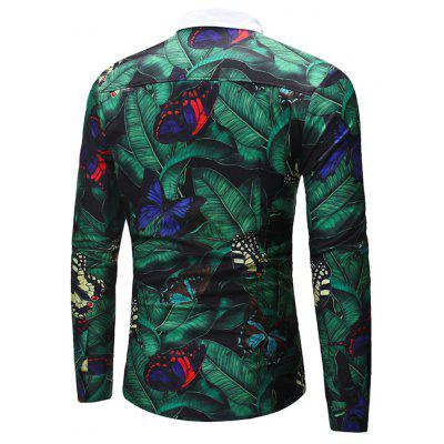 2018 New Mens Long Sleeve Green Leaf Butterfly ShirtMens Shirts<br>2018 New Mens Long Sleeve Green Leaf Butterfly Shirt<br><br>Collar: Turn-down Collar<br>Material: Cotton<br>Package Contents: 1x shirt<br>Shirts Type: Casual Shirts<br>Sleeve Length: Full<br>Weight: 0.3500kg