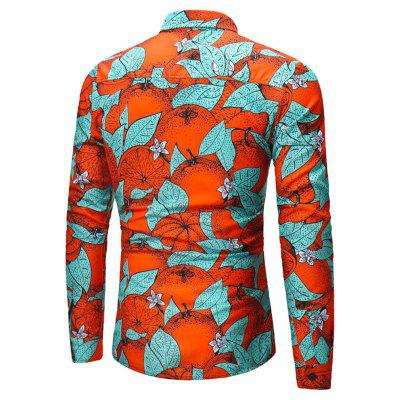 2018 New Mens Long Sleeved Green Leaf Orange Print ShirtMens Shirts<br>2018 New Mens Long Sleeved Green Leaf Orange Print Shirt<br><br>Collar: Turn-down Collar<br>Material: Cotton<br>Package Contents: 1x shirt<br>Shirts Type: Casual Shirts<br>Sleeve Length: Full<br>Weight: 0.3500kg
