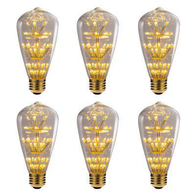 BRELONG ST64 E27 3W 47LED Retro Edison Light Bulb 220 -240V 6pcs