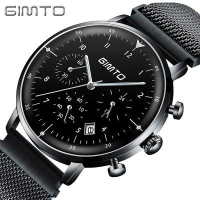 GIMTO GM245 Luxury Brand Men Watch Steel Waterproof Date Quartz ChronographMens Watches<br>GIMTO GM245 Luxury Brand Men Watch Steel Waterproof Date Quartz Chronograph<br><br>Available Color: Black,Black and white,Silver and Black,Silver and White<br>Band material: Stainless Steel<br>Case material: Alloy<br>Clasp type: Magnetic Clasp<br>Display type: Analog<br>Movement type: Quartz watch<br>Package Contents: 1 x Watch<br>Package size (L x W x H): 26.00 x 5.00 x 1.00 cm / 10.24 x 1.97 x 0.39 inches<br>Package weight: 0.0800 kg<br>Product size (L x W x H): 25.00 x 4.00 x 0.90 cm / 9.84 x 1.57 x 0.35 inches<br>Product weight: 0.0700 kg<br>Shape of the dial: Round<br>Special features: Decorative sub-dial, Stopwatch<br>Watch mirror: Mineral glass<br>Watch style: Casual, Fashion, Business, Cool, Ultrathin<br>Watches categories: Men