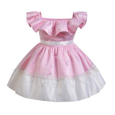 Yoyoxiu CX0111 Girls Fashion Solid Color Collar DressGirls dresses<br>Yoyoxiu CX0111 Girls Fashion Solid Color Collar Dress<br><br>Dresses Length: Knee-Length<br>Embellishment: Lace<br>Material: Cotton Blend<br>Neckline: Slash Neck<br>Package Contents: 1 x Dress<br>Pattern Type: Solid<br>Season: Summer<br>Silhouette: Ball Gown<br>Sleeve Length: Sleeveless<br>Style: Fashion<br>Weight: 0.2240kg<br>With Belt: No