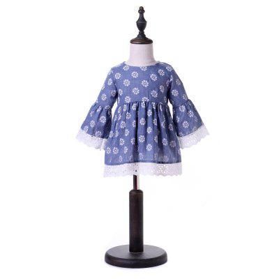 Yoyoxiu CX1129 - 2 Girls Trumpet Long Sleeve Lace DressGirls dresses<br>Yoyoxiu CX1129 - 2 Girls Trumpet Long Sleeve Lace Dress<br><br>Dresses Length: Knee-Length<br>Embellishment: Lace<br>Material: Cotton Blend<br>Neckline: Round Collar<br>Package Contents: 1 x Dress<br>Pattern Type: Floral<br>Season: Summer<br>Silhouette: A-Line<br>Sleeve Length: 3/4 Length Sleeves<br>Sleeve Type: Flare Sleeve<br>Style: Brief<br>Weight: 0.2240kg<br>With Belt: No