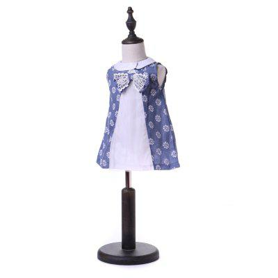 Yoyoxiu CX1125 - 2 Girl Sleeveless Small Lapel DressGirls dresses<br>Yoyoxiu CX1125 - 2 Girl Sleeveless Small Lapel Dress<br><br>Dresses Length: Knee-Length<br>Embellishment: Lace<br>Material: Cotton Blend<br>Neckline: Turn-down Collar<br>Package Contents: 1 x Dress<br>Pattern Type: Others<br>Season: Summer<br>Silhouette: A-Line<br>Sleeve Length: Sleeveless<br>Sleeve Type: Tank<br>Style: Fashion<br>Weight: 0.2240kg<br>With Belt: No