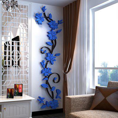 Buy 3D Fashion Stereo The Living Room Wall Stickers, ROYAL BLUE, 24X80CM, Home & Garden, Home Decors, Wall Art, Wall Stickers for $7.10 in GearBest store