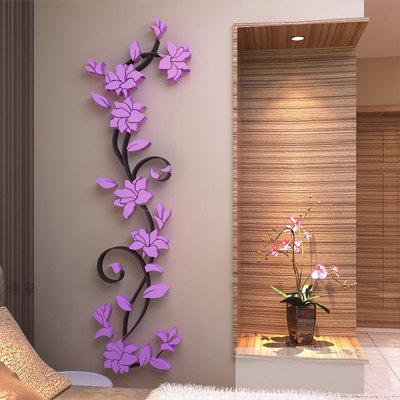 Buy 3D Fashion Stereo The Living Room Wall Stickers, BLOSSOM PINK, 24X80CM, Home & Garden, Home Decors, Wall Art, Wall Stickers for $7.10 in GearBest store