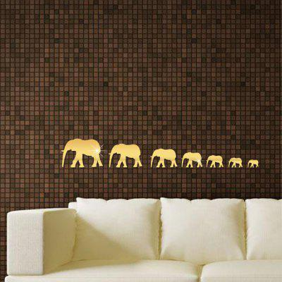 The Walking Elephant Mirrored Wall StickerWall Stickers<br>The Walking Elephant Mirrored Wall Sticker<br><br>Function: Decorative Wall Sticker<br>Material: Plastic<br>Package Contents: 7x wall sticker<br>Package size (L x W x H): 21.00 x 101.00 x 10.00 cm / 8.27 x 39.76 x 3.94 inches<br>Package weight: 0.0680 kg<br>Product size (L x W x H): 20.00 x 100.00 x 1.20 cm / 7.87 x 39.37 x 0.47 inches<br>Product weight: 0.0650 kg<br>Quantity: 7<br>Subjects: Fashion<br>Suitable Space: Living Room,Bathroom,Dining Room,Hotel,Study Room / Office<br>Type: Mirror Wall Sticker