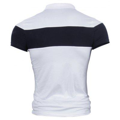 2018 Mens Summer Short-Sleeve T-shirtMens Short Sleeve Tees<br>2018 Mens Summer Short-Sleeve T-shirt<br><br>Collar: Turn-down Collar<br>Color Style: Contrast Color<br>Fabric Type: Broadcloth<br>Material: Cotton<br>Package Contents: 1x Polo shirt<br>Pattern Type: Patchwork<br>Sleeve Length: Short<br>Style: Casual<br>Type: Regular<br>Weight: 0.3000kg