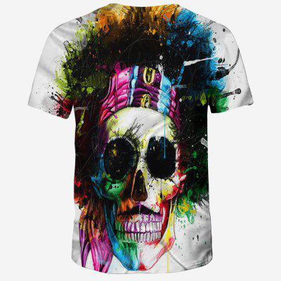 2018 New Fashion 3D Printed Men T-shirtMens Short Sleeve Tees<br>2018 New Fashion 3D Printed Men T-shirt<br><br>Collar: Round Neck<br>Material: Polyester, Spandex<br>Package Contents: 1XT-shirt<br>Pattern Type: Skulls<br>Sleeve Length: Short Sleeves<br>Style: Fashion<br>Weight: 0.1600kg