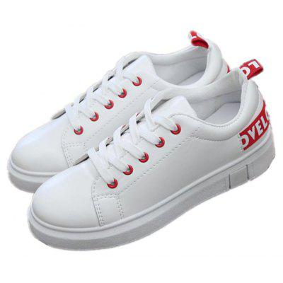 Spring 2018 New Slate Shoes Students Sports Little White Shoes Flat Casual Shoes