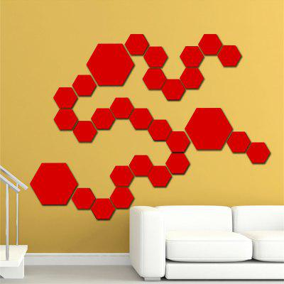 12Pcs Diy Large Hexagon 3D Art Mirror Wall Stickers for Home DecorationWall Stickers<br>12Pcs Diy Large Hexagon 3D Art Mirror Wall Stickers for Home Decoration<br><br>Function: Decorative Wall Sticker<br>Material: PMMA<br>Package Contents: 12 x Mirror Wall Sticker<br>Package size (L x W x H): 18.00 x 15.50 x 2.00 cm / 7.09 x 6.1 x 0.79 inches<br>Package weight: 0.2100 kg<br>Product size (L x W x H): 17.70 x 15.30 x 2.00 cm / 6.97 x 6.02 x 0.79 inches<br>Product weight: 0.2050 kg<br>Quantity: 1 Set<br>Subjects: Fashion,Leisure,Mirror,Shape<br>Suitable Space: Living Room,Bathroom,Bedroom,Dining Room,Office,Hotel,Cafes,Kids Room,Hallway,Kids Room,Study Room / Office,Boys Room,Girls Room<br>Type: Mirror Wall Sticker