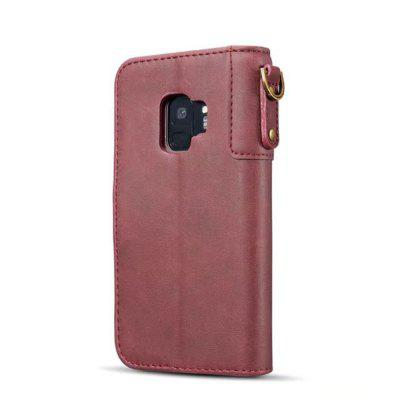 for Samsung Galaxy S9 Wallet Case Genuine Leather Phone Cover with Lanyard white doormoon for iphone 5c wallet genuine leather cover with stand