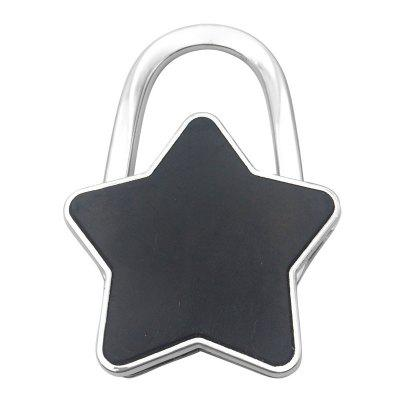 Star Desk Bag Hooks Folding Bag BucklesHooks &amp; Racks<br>Star Desk Bag Hooks Folding Bag Buckles<br><br>Functions: Living Room, Bedroom, Dining Room, School<br>Materials: Alloy<br>Package Contents: 1 x Foldable Bag Hook<br>Package Size(L x W x H): 8.00 x 5.00 x 2.00 cm / 3.15 x 1.97 x 0.79 inches<br>Package weight: 0.0600 kg<br>Product Size(L x W x H): 7.00 x 4.50 x 1.00 cm / 2.76 x 1.77 x 0.39 inches<br>Product weight: 0.0520 kg<br>Types: Hooks and Racks