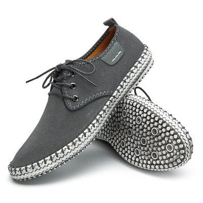 Large Size Men Suede Stitching Soft Sole Outdoor Sport Casual ShoesFlats &amp; Loafers<br>Large Size Men Suede Stitching Soft Sole Outdoor Sport Casual Shoes<br><br>Available Size: 38-48<br>Closure Type: Lace-Up<br>Embellishment: Ruched<br>Gender: For Men<br>Occasion: Casual<br>Outsole Material: Rubber<br>Package Contents: 1 x Pair of Shoes<br>Pattern Type: Solid<br>Season: Summer, Winter, Spring/Fall<br>Toe Shape: Square Toe<br>Toe Style: Closed Toe<br>Upper Material: Canvas<br>Weight: 1.4000kg