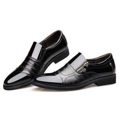 Men Color Blocking Side Zipper Pointed Toe Formal Dress ShoesFormal Shoes<br>Men Color Blocking Side Zipper Pointed Toe Formal Dress Shoes<br><br>Available Size: 38-44<br>Closure Type: Zip<br>Embellishment: Embroidery<br>Gender: For Men<br>Occasion: Casual<br>Outsole Material: Rubber<br>Package Contents: 1 x Pair of Shoes<br>Pattern Type: Patchwork<br>Season: Summer, Winter, Spring/Fall<br>Toe Shape: Pointed Toe<br>Toe Style: Closed Toe<br>Upper Material: Synthetic<br>Weight: 3.1500kg
