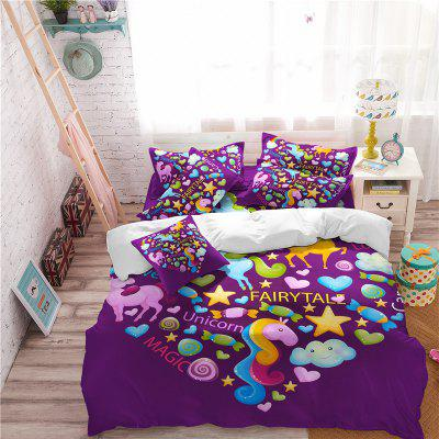 3D Series Cartoon Animation Unicorn Rainbow Series Bedding setBedding Sets<br>3D Series Cartoon Animation Unicorn Rainbow Series Bedding set<br><br>Category: Bedding Set<br>For: All<br>Functions: Multi-functions<br>Material: Cotton, Polyester<br>Occasion: Bedroom, School<br>Package Contents: 1 x Duver Cover,2 x Pillowcase,1 x Bed Sheet or 1 x Duver Cover,2 x Pillowcase,<br>Package size (L x W x H): 24.00 x 20.00 x 5.00 cm / 9.45 x 7.87 x 1.97 inches<br>Package weight: 1.1900 kg<br>Product size (L x W x H): 24.00 x 20.00 x 5.00 cm / 9.45 x 7.87 x 1.97 inches<br>Product weight: 1.1500 kg<br>Type: Novelty, Leisure, Comfortable, Decoration, Fashion