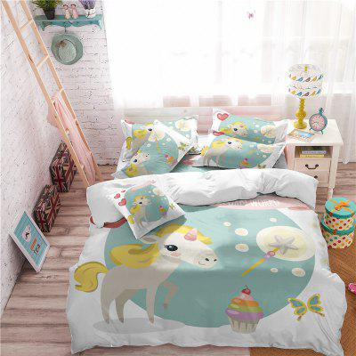 3D Series Cartoon Animation Unicorn Rainbow Series Bedding setBedding Sets<br>3D Series Cartoon Animation Unicorn Rainbow Series Bedding set<br><br>Category: Bedding Set<br>For: All<br>Functions: Multi-functions<br>Material: Cotton, Polyester<br>Occasion: Bedroom, School<br>Package Contents: 1 x Duver Cover,2 x Pillowcase,1 x Bed Sheet or 1 x Duver Cover,2 x Pillowcase,<br>Package size (L x W x H): 28.00 x 26.00 x 5.00 cm / 11.02 x 10.24 x 1.97 inches<br>Package weight: 1.6000 kg<br>Product size (L x W x H): 28.00 x 26.00 x 5.00 cm / 11.02 x 10.24 x 1.97 inches<br>Product weight: 1.4000 kg<br>Type: Novelty, Leisure, Comfortable, Decoration, Fashion