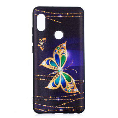 TPU Relief Case for Xiaomi 6X / Redmi Note 5 Pro Large Butterfly Pattern