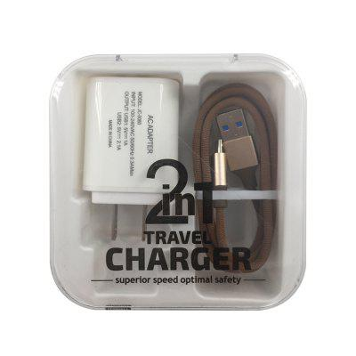 F121 Micro USB Cable  2USB Portable Travel Wall Fast Charger Adapter janse football foot style 15w dual usb eu plug power charger car charger white
