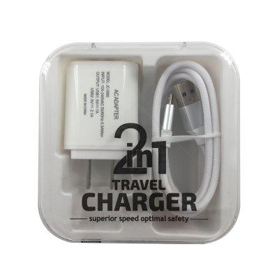 F121 Micro USB Cable  2USB Portable Travel Wall Fast Charger Adapter 5 in 1 usb ac charger battery charger adapter car charger micro usb cable for samsung s3 4
