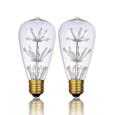 BRELONG ST64 E27 3W 47LED Retro Edison Light Bulb 220 -240V 2pcs