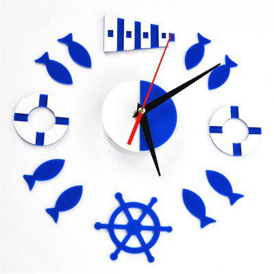Creative DIY Wall Clock Living Room Personality Fashion Simple Mirror Wall Stick