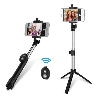 gocomma 3 in 1 Bluetooth Selfie Stick Tripod Remote Handheld Monopod - BLACK