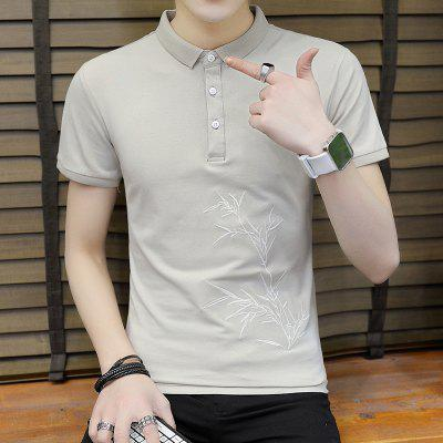 Slim-Embroidered Bamboo Leaf Polo ShirtMens Short Sleeve Tees<br>Slim-Embroidered Bamboo Leaf Polo Shirt<br><br>Collar: Turn-down Collar<br>Color Style: Solid<br>Fabric Type: Jersey<br>Feature: Breathable<br>Material: Cotton, Polyester, Nylon<br>Package Contents: 1 x Polo Shirt<br>Pattern Type: Plant<br>Sleeve Length: Short<br>Style: Casual<br>Type: Slim<br>Weight: 0.1600kg