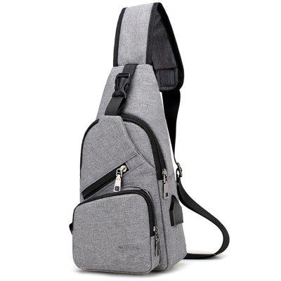 USB Charge Backpack Travel Chest Bag for Men and Women